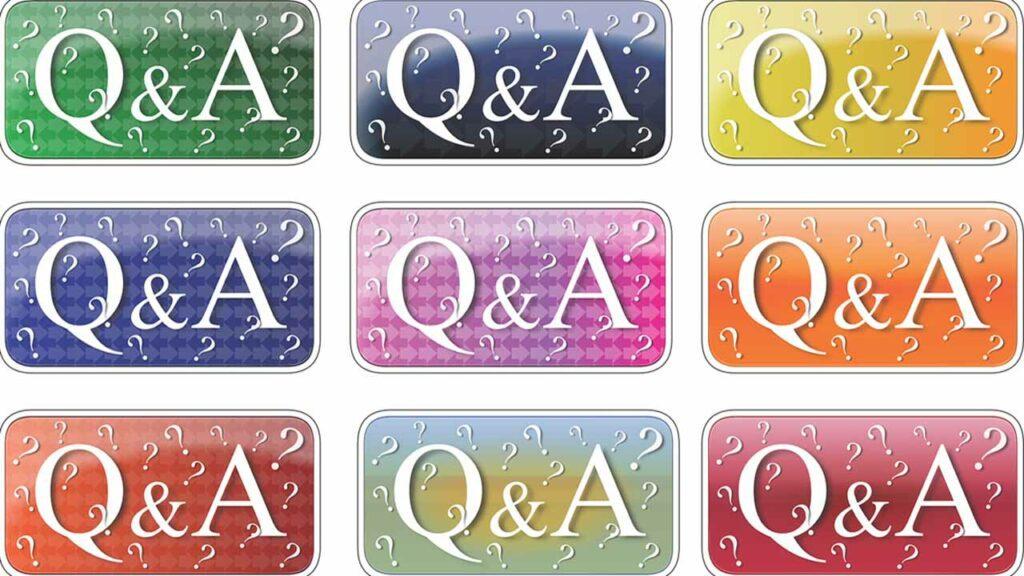 Kuvassa on kirjaimia Q ja A. Nämä viittaavat kysymyksiin ja vastauksiin.